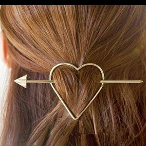 Heart & Arrow Hair Clip